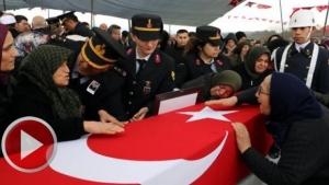 Şehit Jandarma Uzman Çavuş Furkan Yılmaz'ı binler uğurladı