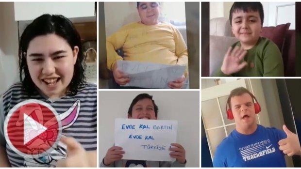 Engelli Öğrencilerden Ev Kal Mesajı
